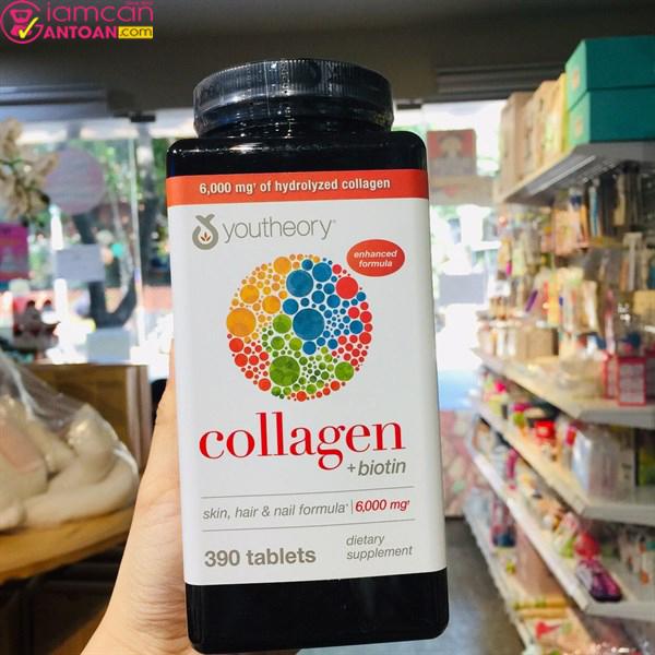 Viên uống collagen Youtheory là sản phẩm dành cho người trên 18 tuổi